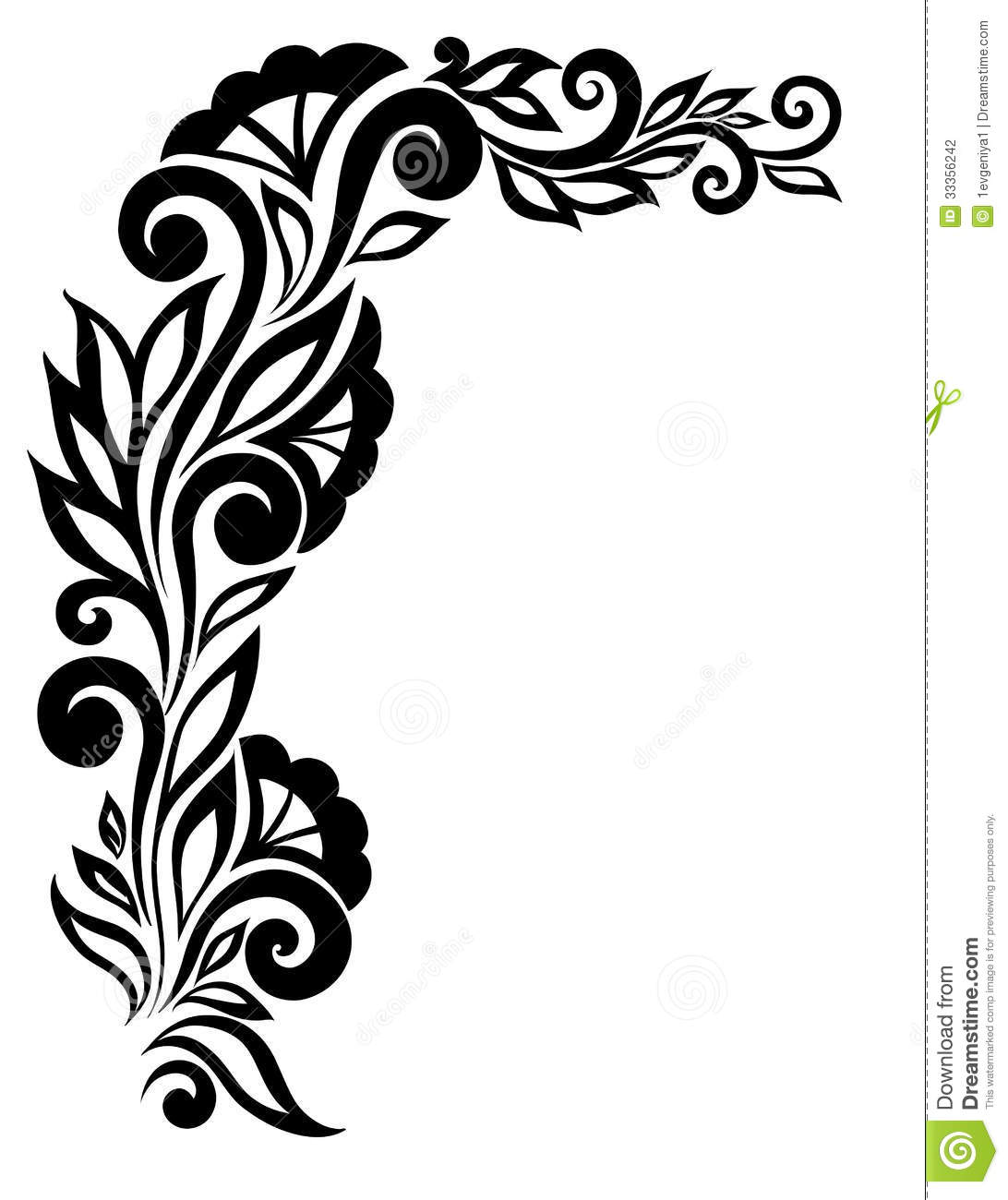 Black and White Corner Border Designs