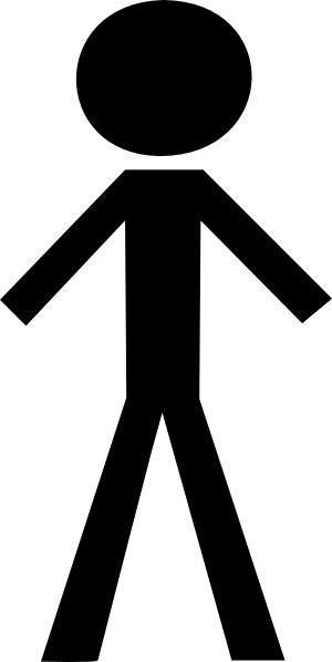 Black Stick Figure Clip Art
