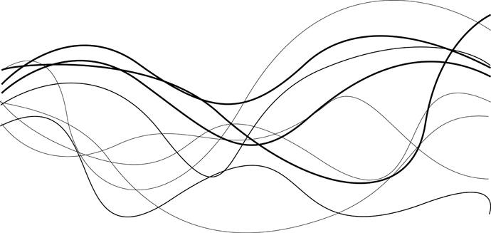 Black Wavy Line Vector