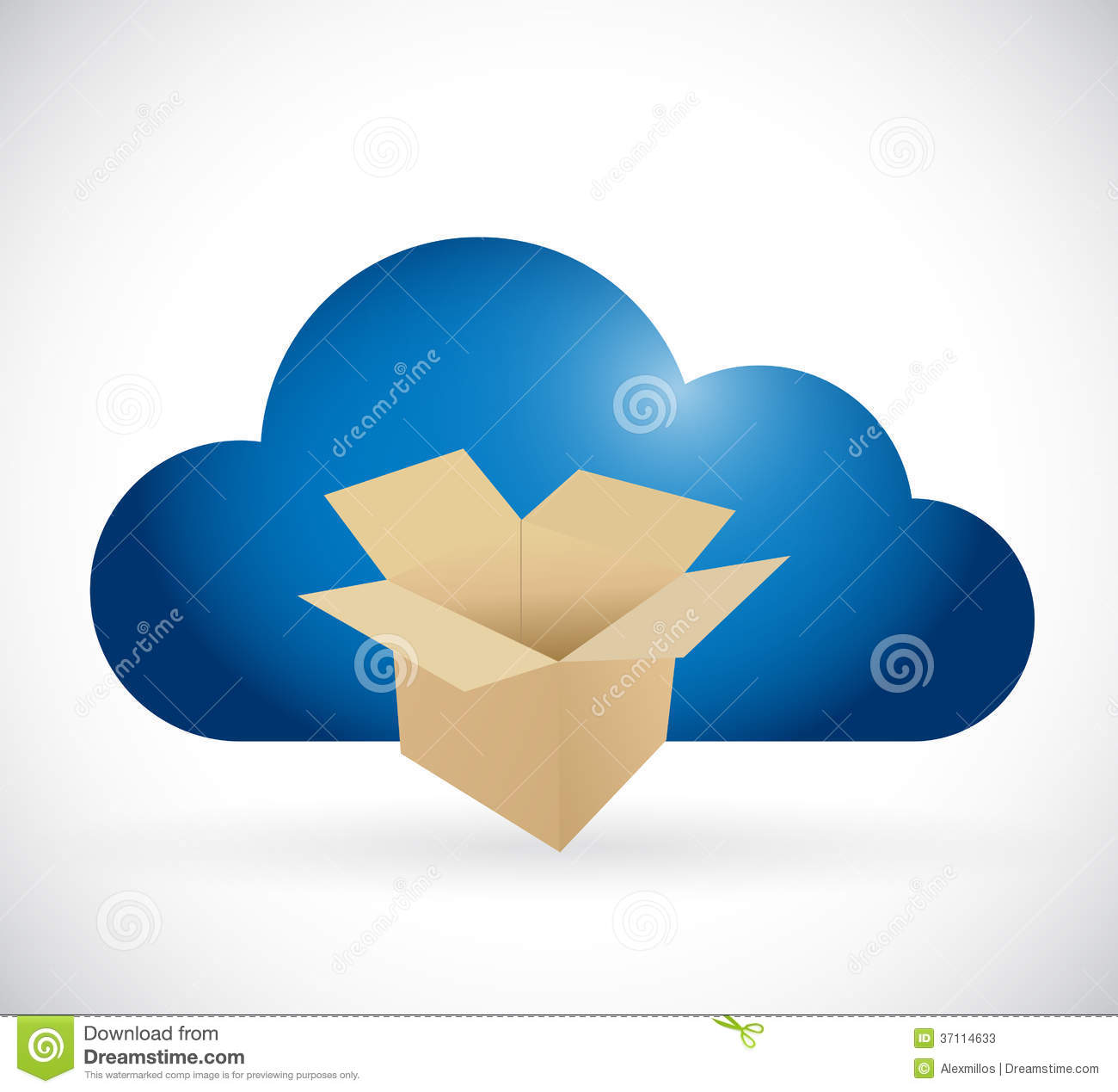 6 Box Cloud Storage Icon Images