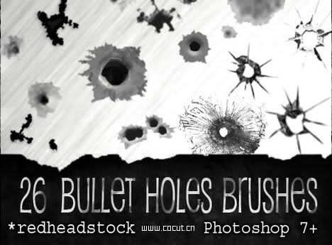 15 Photoshop Bullet Hole PSD Images - Bullet Hole Photoshop Brush