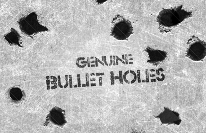 15 Photoshop Bullet Hole PSD Images