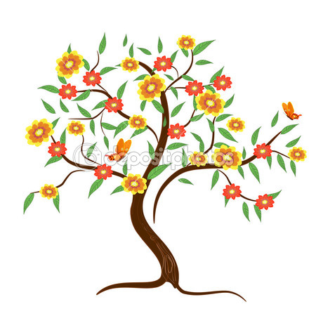 Cartoon Flower Tree