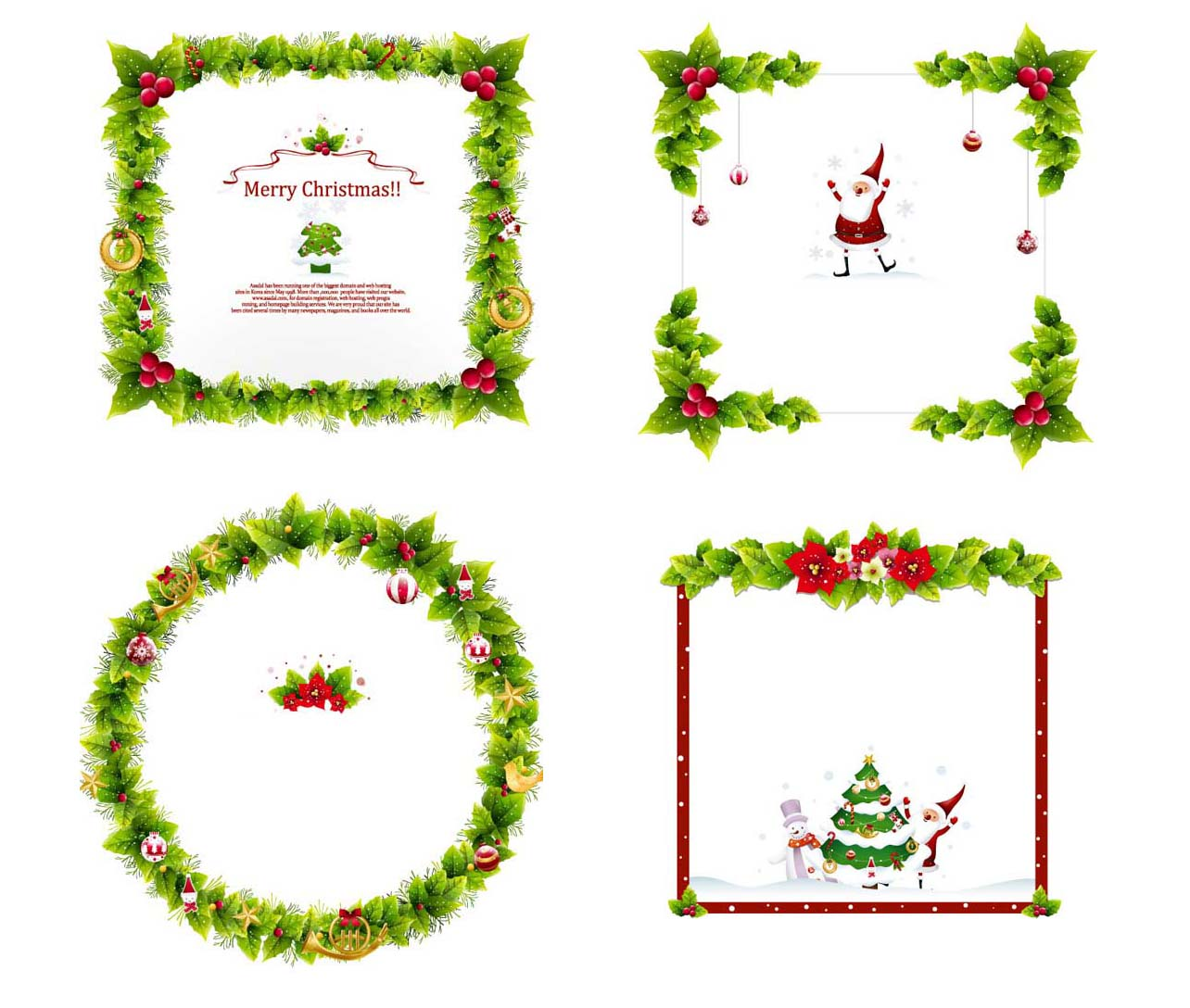 17 Free Christmas Border Vector Images