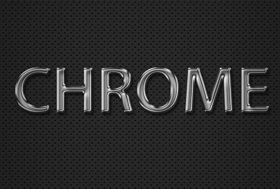 Chrome Text Effect Photoshop
