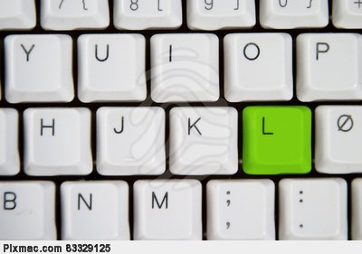 Computer Keyboard Letters
