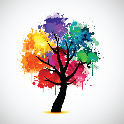 Creative Colorful Tree Design