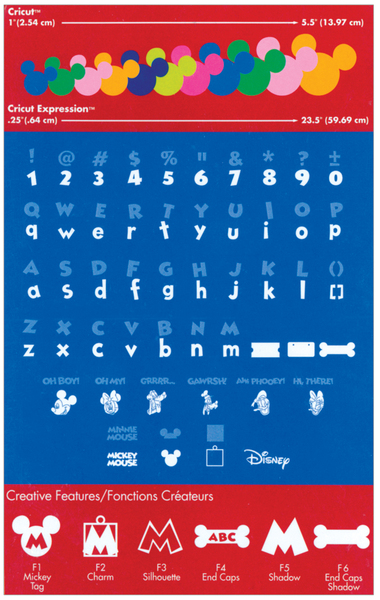 13 Disney Font Cartridge Cricut Images