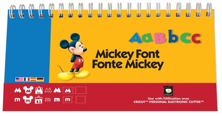 Cricut Disney Cartridge Mickey Font