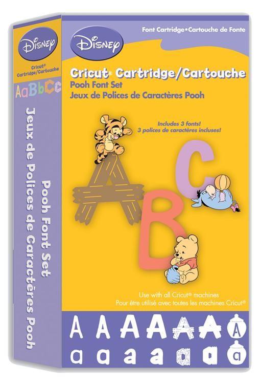 Cricut Disney Cartridge Pooh Font Set