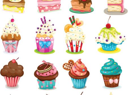 Cupcake Birthday Cake Cartoon