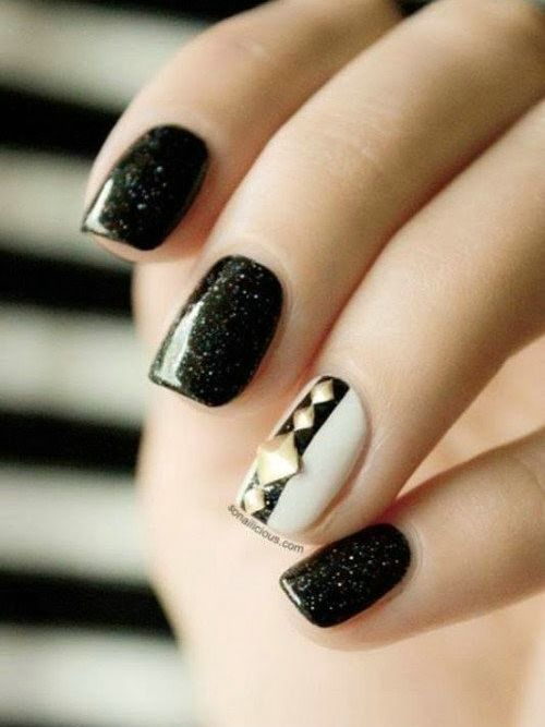 Cute nail designs with black base cute dandelion nail art ideas born pretty nail chameleon polish art varnish black base color needed view images prinsesfo Images