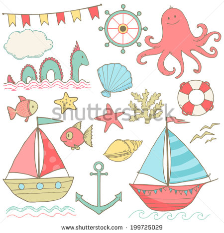 Cute Girly Summer Clip Art