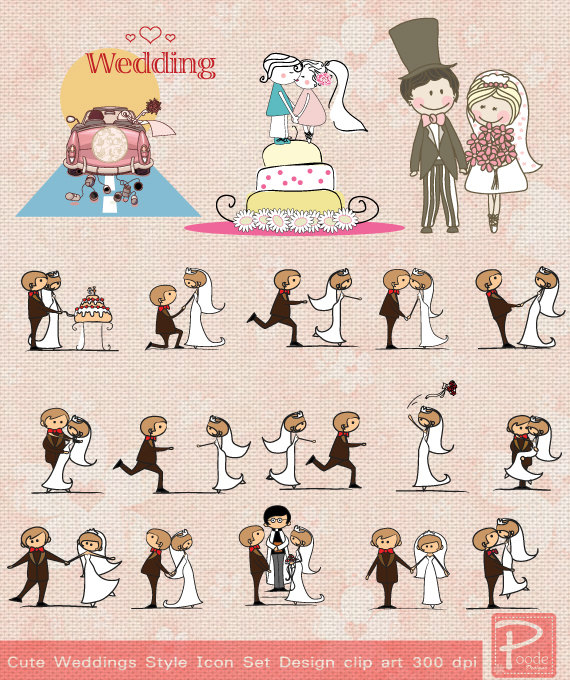 Cute Wedding Clip Art