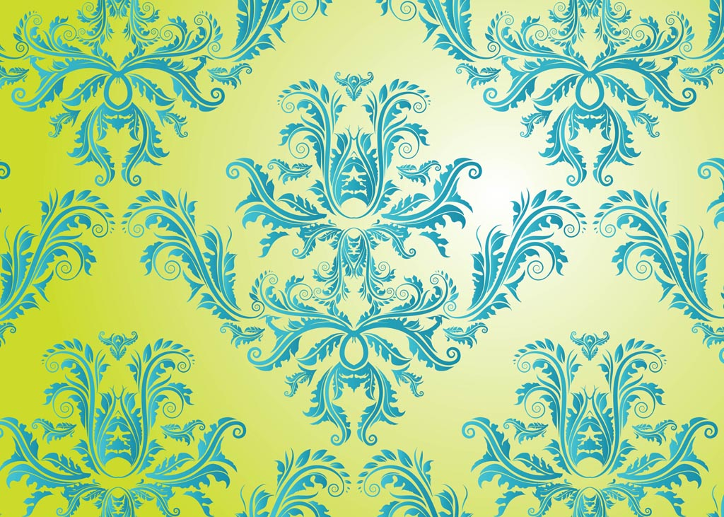 Damask Pattern Vector Free
