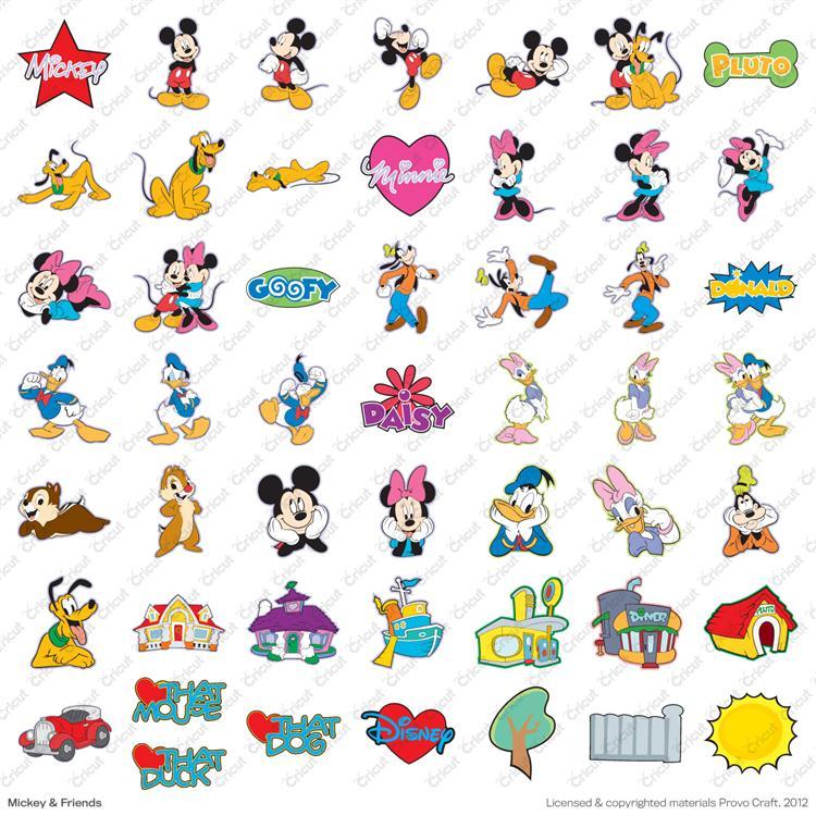 Disney and Friends Cricut Cartridge