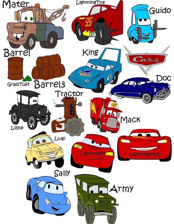 12 Disney Cars Vector Images Logo