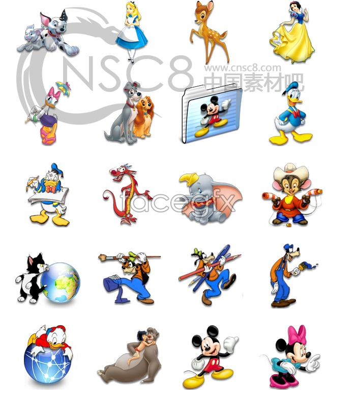 Disney Character Icons Free