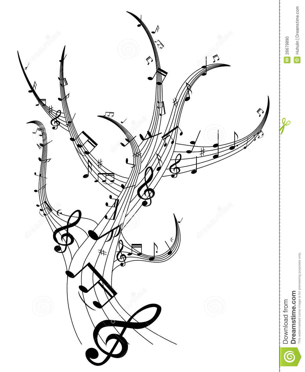 16 Cool Designs To Draw Music Notes Images - Music Notes ...