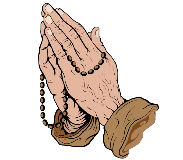 10 Vector Praying Hands Clip Art Images