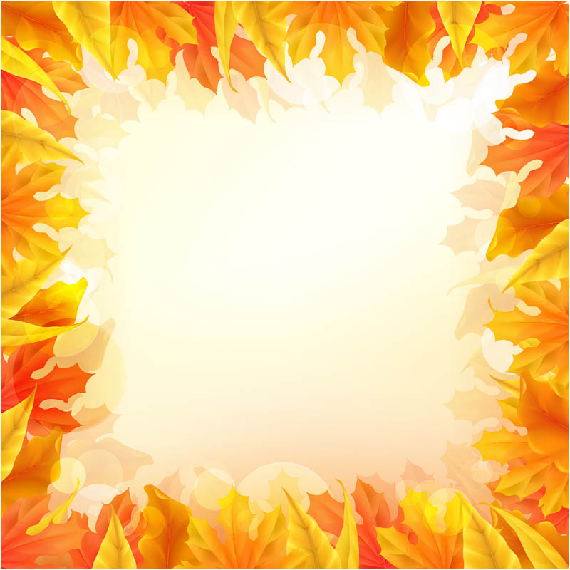 Fall Leaves Background Clip Art