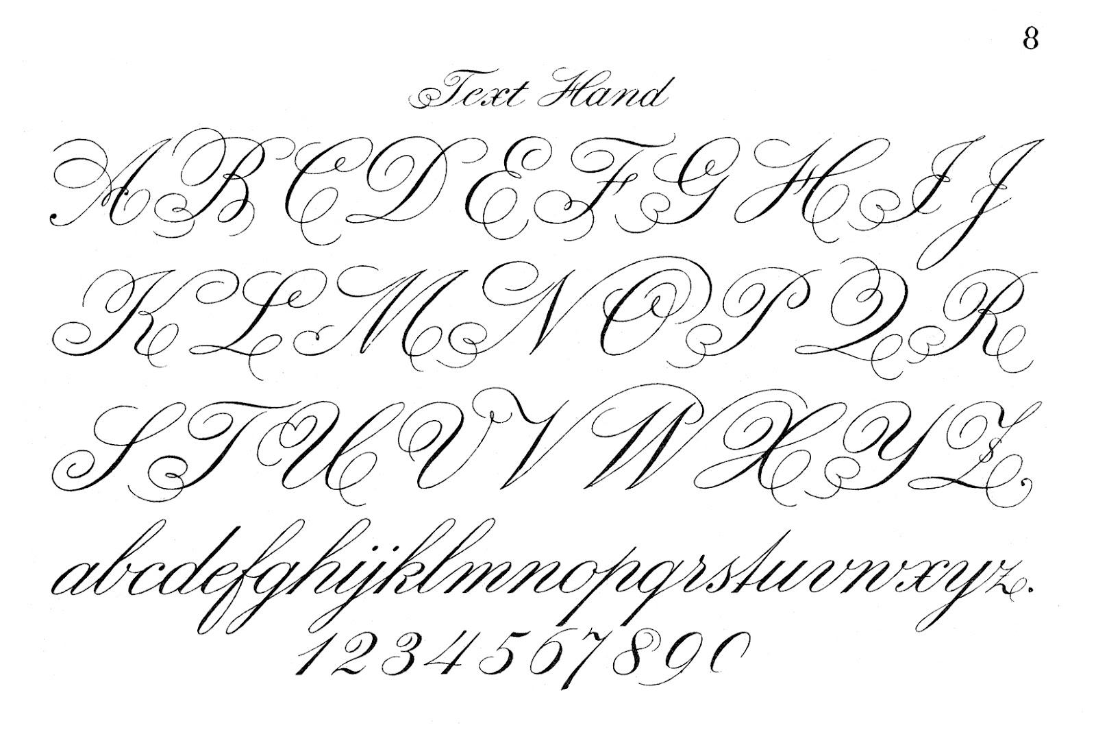 Free Print Handwriting charts!