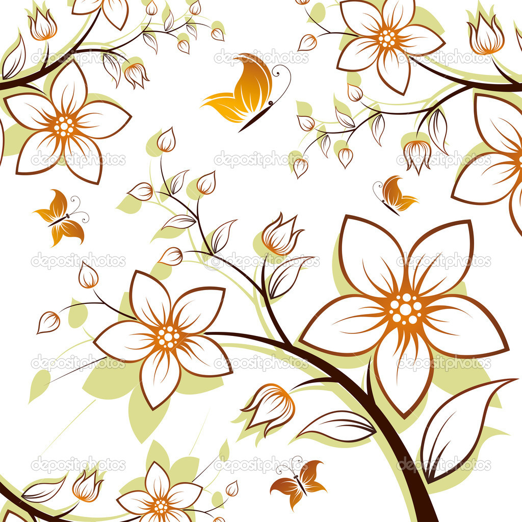 Flower Vector Clip Art Tree