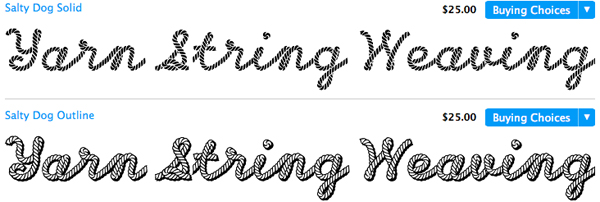 Font That Looks Like Yarn
