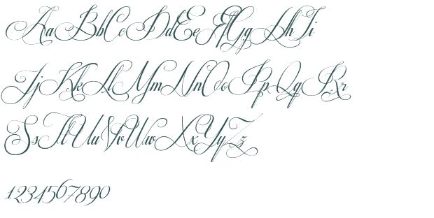 12 Fancy Cursive Fonts Images - Fancy Cursive Tattoo Fonts