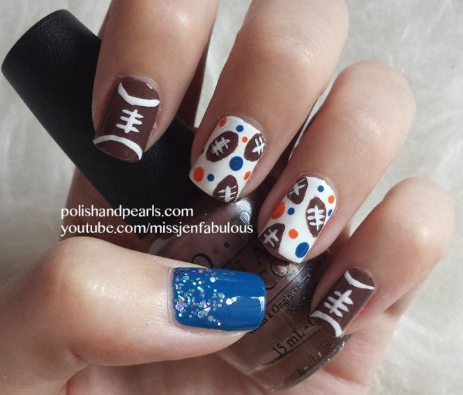 20 Football Nail Designs Images