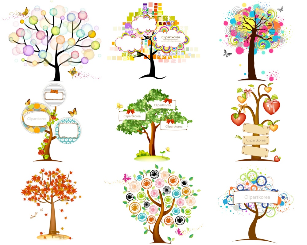 16 Vector Trees Clip Art Images