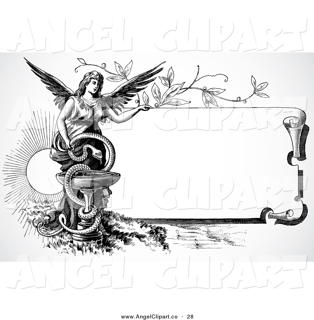 Free Angel Clip Art Black and White