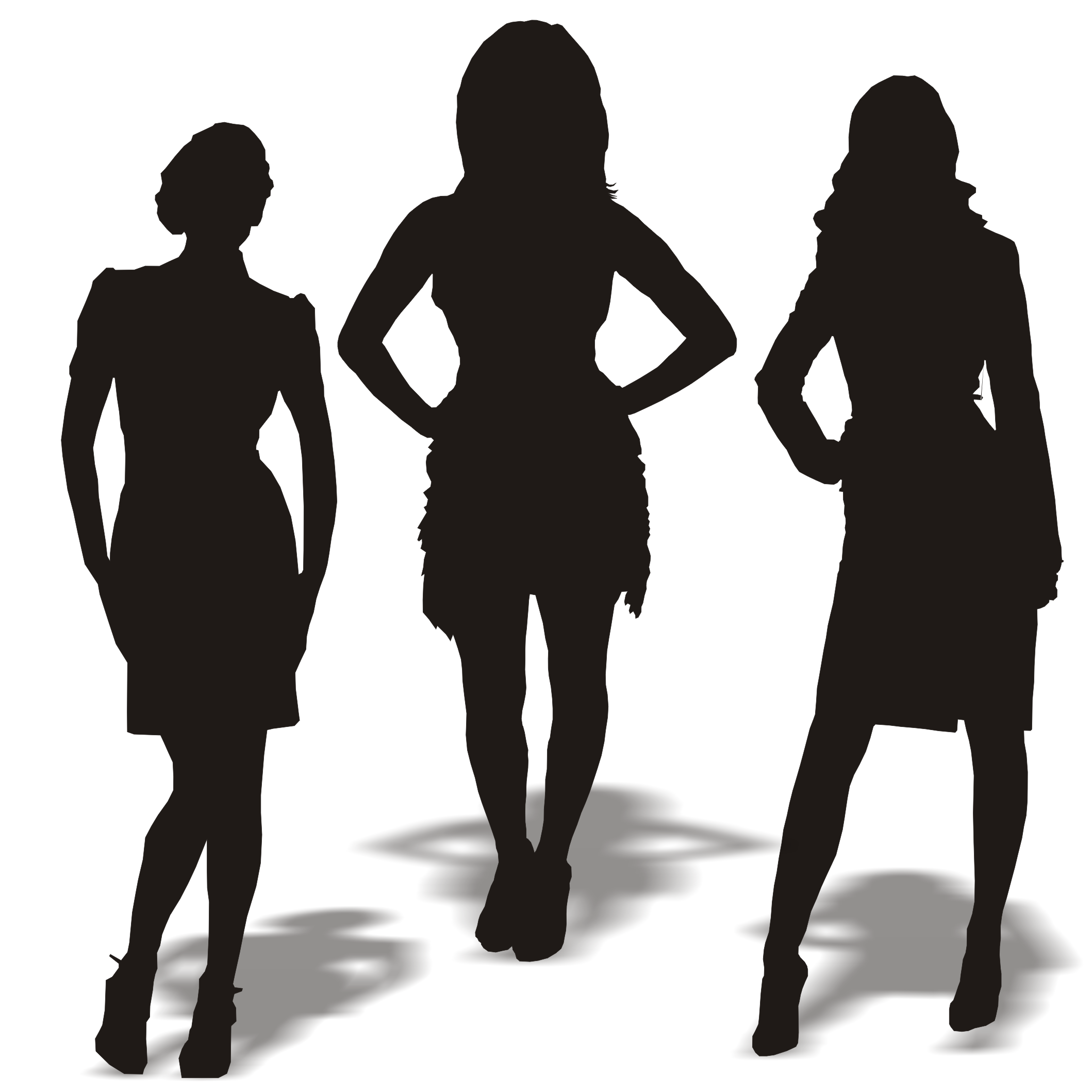15 Woman Silhouette Vector Images