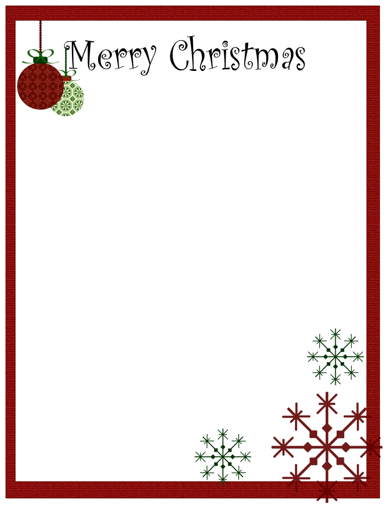 13 Free Printable Christmas Border Designs Images