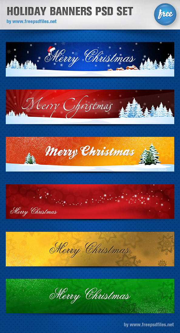 11 Christmas Banner PSD Images
