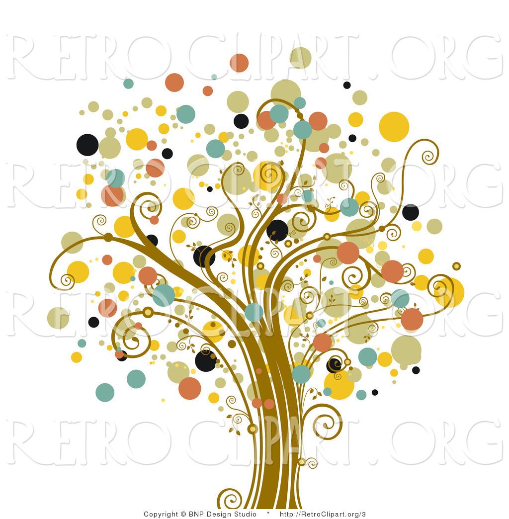 Free Retro Tree Clip Art