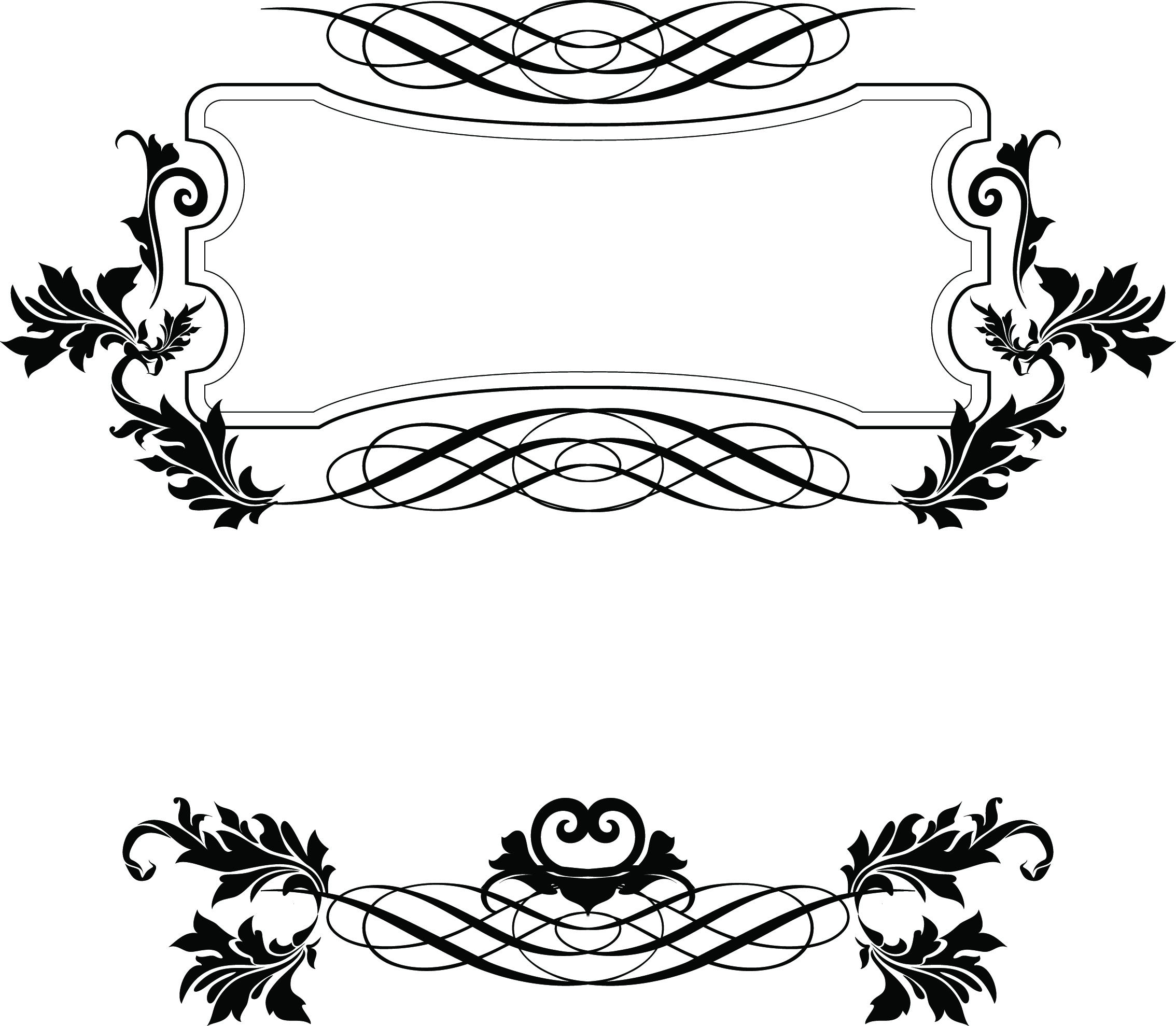 9 Fancy Frame Border Design Images Free Vector Decorative Borders