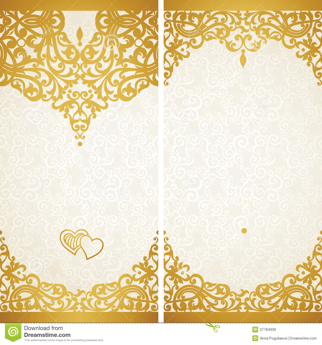 Gold Vintage Border Designs