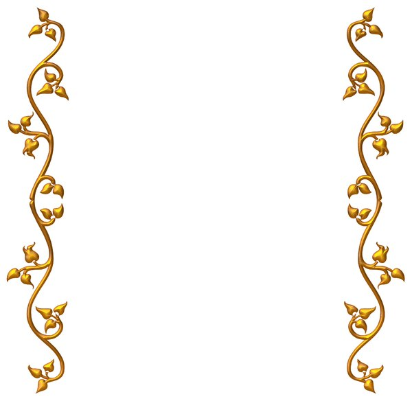 Gold Wedding Border Designs