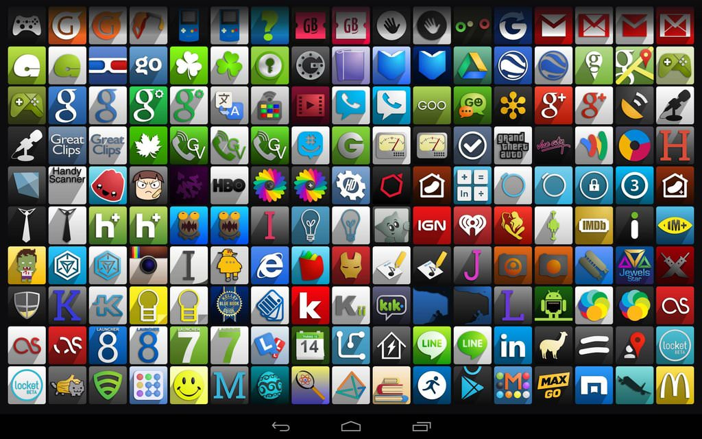 6 Android Store Icon Theme Images