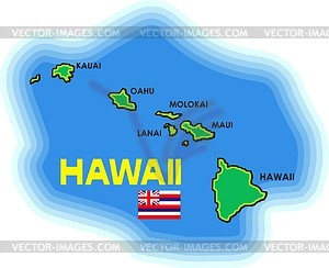 Hawaii Island Map Clip Art