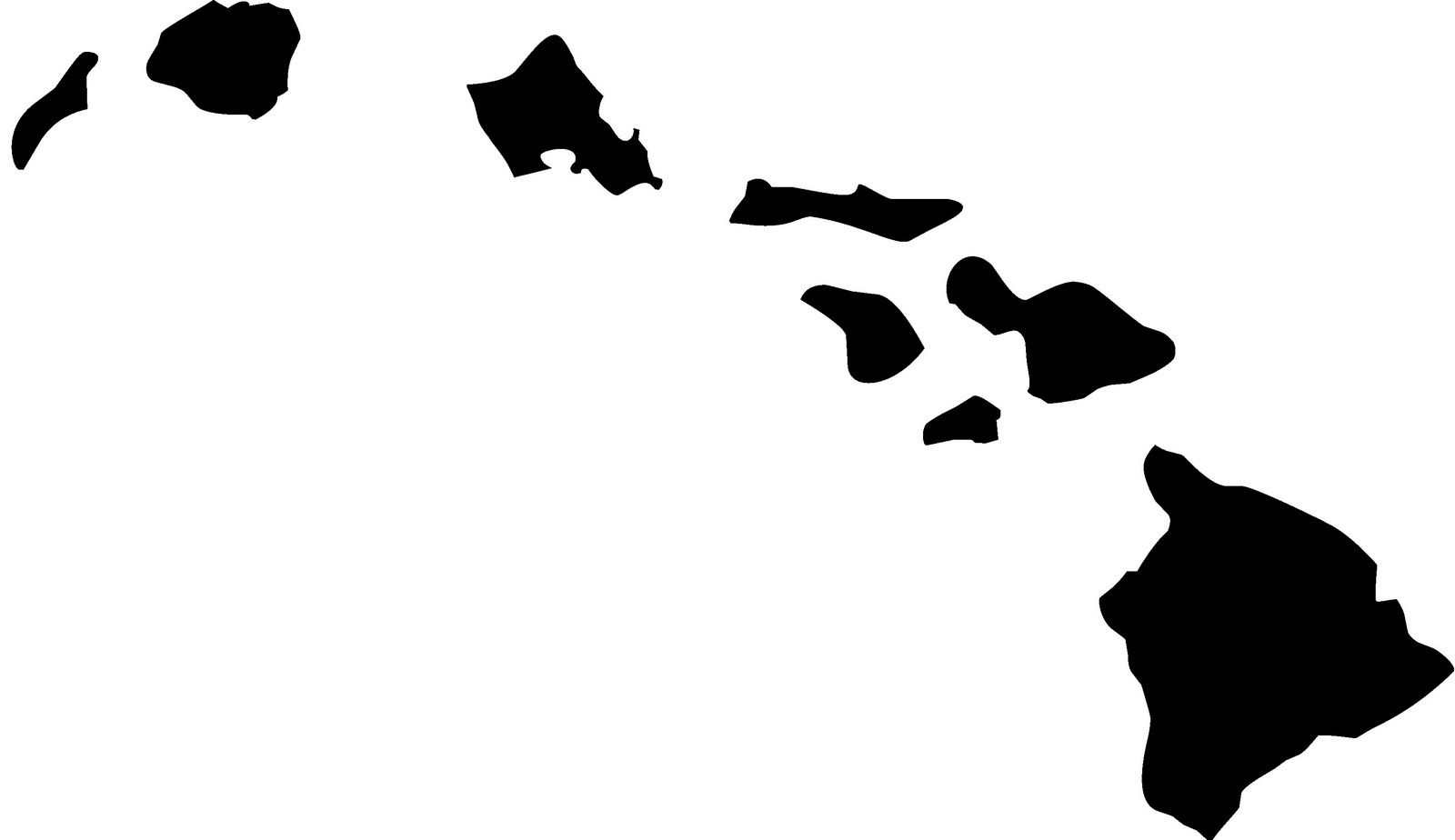 Hawaiian Islands Silhouette