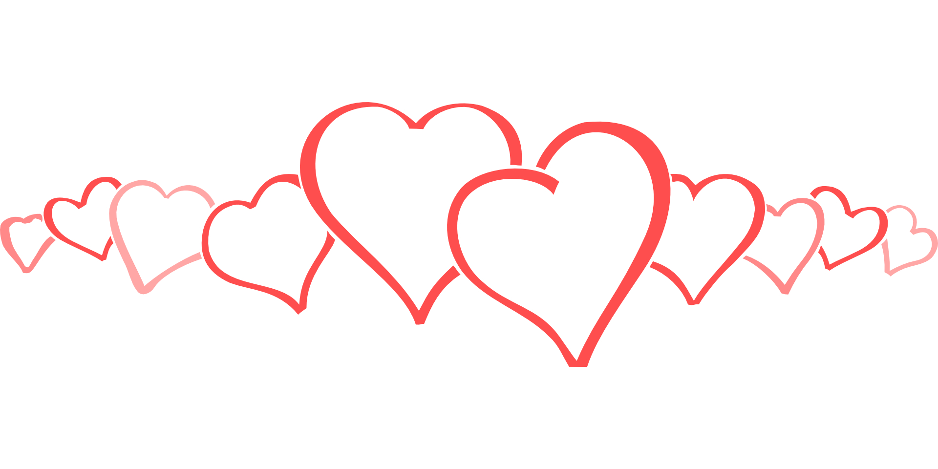 15 Heart Outline PSD Images