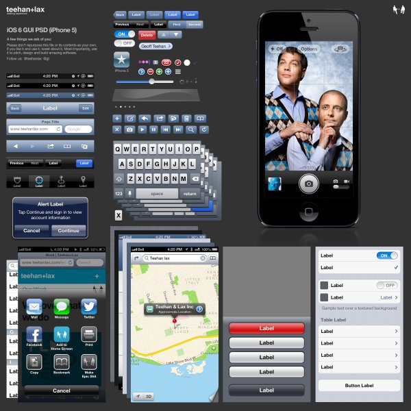 15 IPhone 5 GUI PSD Images