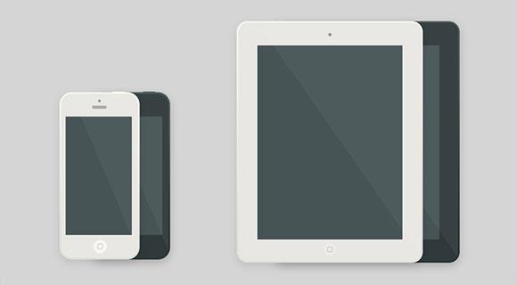 iPad and iPhone Icon Flat