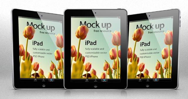 iPad Mockup Template Free