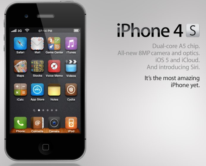 14 IPhone 4S Icons At Top Images
