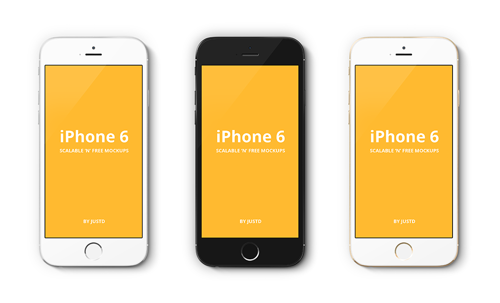 13 Perspective IPhone 6 Mockup PSD Images