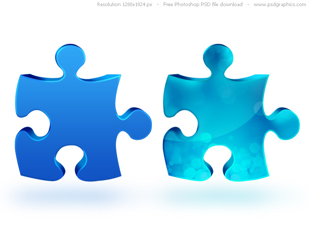 11 Puzzle Photoshop PSD Files Images