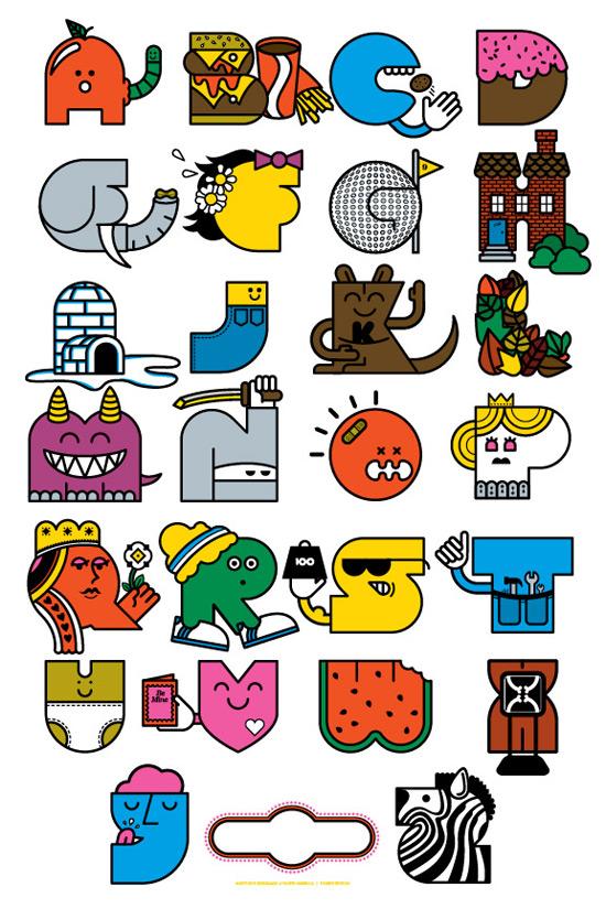 Letter Art Alphabet Designs